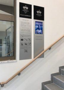 Panneaux signalétique tribunal administratif à Caen